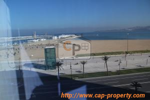 Tanger, corniche ; bright apartment rented